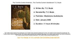 Sparknotes Tortilla Curtain Chapter 4 by The Tortilla Curtain Full Audiobook Memsaheb Net