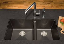 blanco 441296 33 inch undermount double bowl granite sink with 9 1