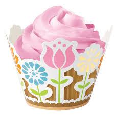 Details About Wilton Fairy Cake Cupcake Decorative Wraps Brighten Up Plain Cases Garden Party