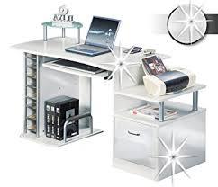 bureau ordinateur blanc sixbros bureau informatique très brillant blanc s 202a 732