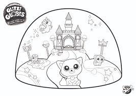 Glitzi Globes Coloring Pages