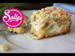 rhabarberkuchen mit vanillecreme und streuseln sehr