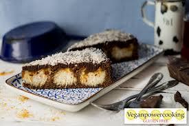 rum kokos kuchen mit schokolade veganpowercooking
