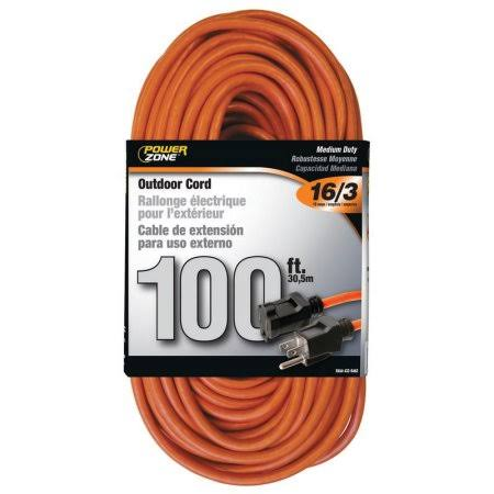 Power Zone Extension Cord - 100', Orange