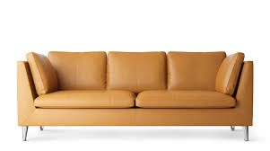 Brown Leather Sofa Bed Ikea by 3 Seater Leather Sofa Ikea