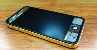iPhone 4S Gold Frame Conversion & Clear Black LCD Screen