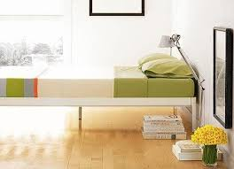 SF Good Questions Low Platform Bed With Inset Legs
