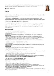 Hotel Front Desk Resume Skills by Cover Letter For 5 Star Hotel