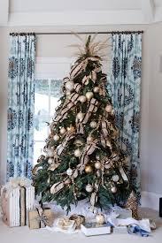Burgundy Gold Christmas Tree