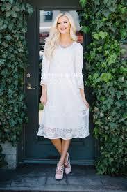 white floral lace modest dress modest bridesmaids dresses best