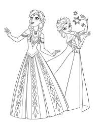 Frozen Coloring Pages Anna And Elsa Olaf