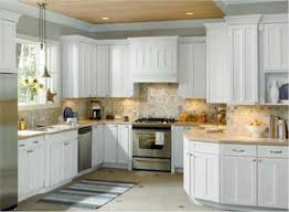 Rectangle Silver Sink Decor Idea Kitchen Backsplash Ideas For White Cabinets Black Countertops Cabinet Inexpensive Cream Tile Small Design Cupboards Designs