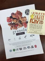Pumpkin Flaxseed Granola Nutrition Info by The Pumpkin Batch June 2016 Subscription Box Review Hello