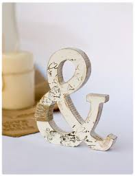 Wooden Ampersand Stand Alone