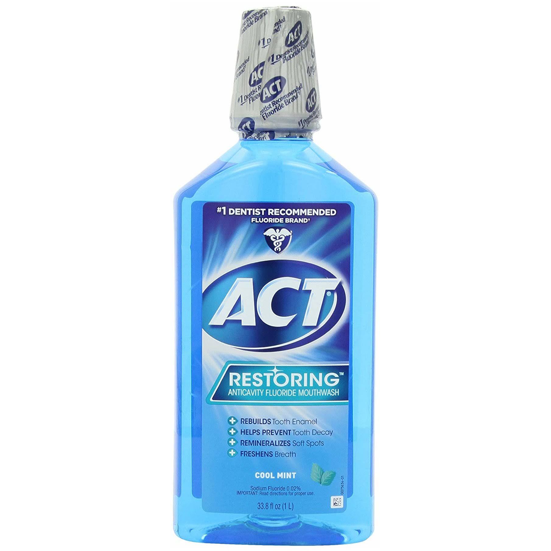 Act Restoring Anticavity Fluoride Mouthwash - Cool Mint