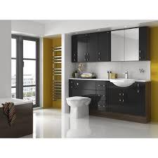 Tall White Shaker Style Bathroom Cabinet Freestanding by Bathroom Furniture Black Zamp Co
