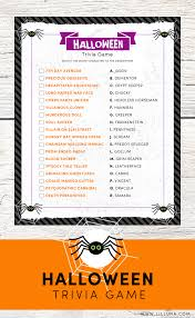 Scary Halloween Riddles And Answers by Free Halloween Trivia Print Just Match The Character To