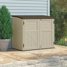 Suncast Plastic Garage Storage Cabinets by Suncast 34 Cu Ft Horizontal Storage Shed Bms3400 Do It Best