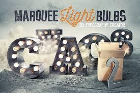 marquee light bulbs 2 chaos graphics creative market