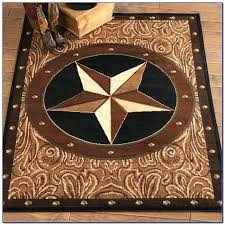 Round Texas Star Area Rugs Rustic Bedroom Furniture Home
