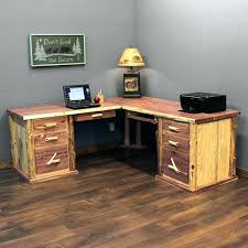 Office Desk L Shaped Rustic Computer Best