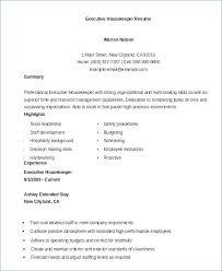 Housekeeping Resume Samples Housekeeper