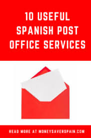 Useful Spanish Post fice Services