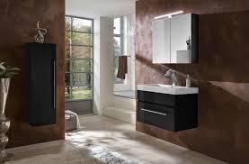 badezimmer set 3tlg spiegelschrank schwarz 80 cm lunar