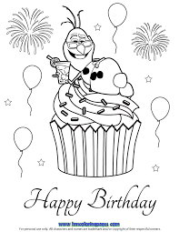 Olaf Birthday Coloring Pages
