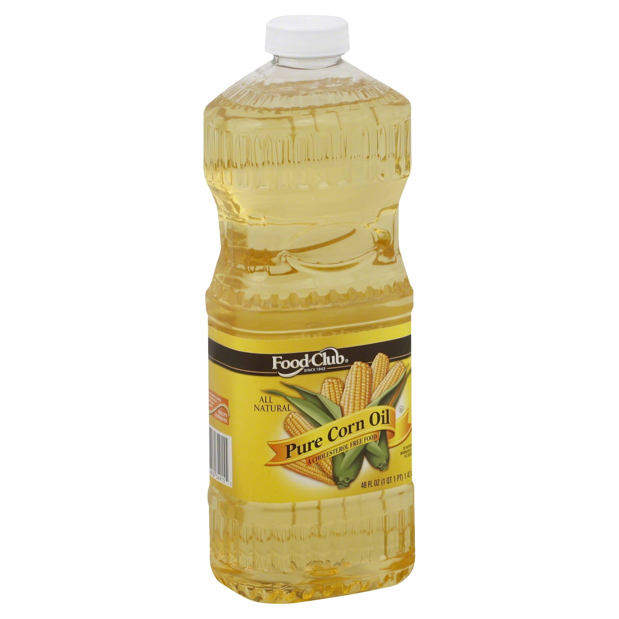 Food Club Corn Oil, Pure - 48 fl oz