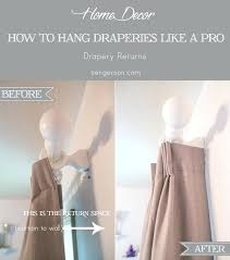 how to hang sheer curtains on traverse rod with detail drapery