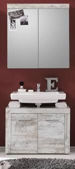 badmöbel spiegelschrank cancun in pinie weiß shabby chic 2 türig badezimmer vintage 72 x 79 cm