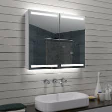 details zu alu led beleuchtung badezimmerschrank spiegelschrank bad schrank schmink spiegel