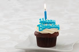 Blue Birthday Cupcakes Happy birthday blue