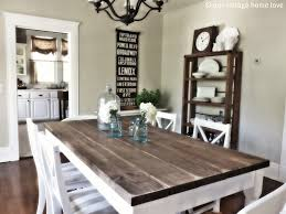 Kitchen Farmhouse Style Dining Table Farm Room Diy Rustic Round With Upper