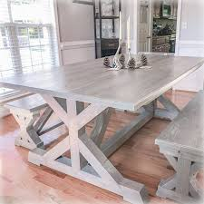 Rustic Douglas Fir Trestle Farm Table And Benches – Overlin ... Lindsey Farm 6piece Trestle Table Set Urban Chic Small Ding Bench Hallowood Amazoncom Vermont The Gather Ash 14 Rentals San Diego View Our Gallery Lots Of Rustic Tables Jesus Custom Square Farmhouse Farm Table W Matching Benches Reclaimed Chestnut Wood Harvest Matching Free Diy Woodworking Plans For A Farmhouse Handmade Coffee Ashley Distressed Counter 4 Chairs Modern Southern Pine Wmatching Bench