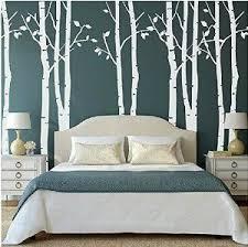 Set Of 9 Birch Tree Wall Stickers White Nursery Big