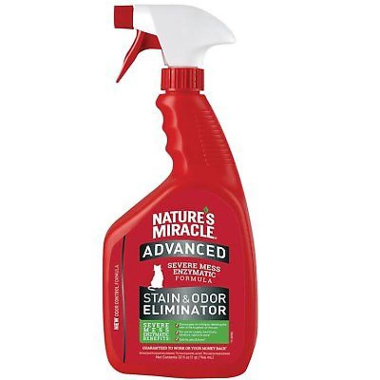 Nature's Miracle Just for Cats Advanced Stain and Odor Remover Spray - 32oz