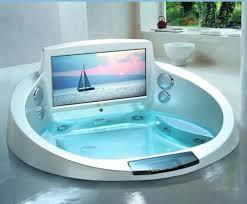 tv sploosh luxury bathtub trendy home