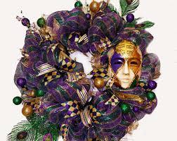 Mardi Gras Mask Door Decoration by Mardi Gras Fleur De Lis Wreath Mardi Gras Decorations Mardi