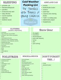 Cold Weather Packing List For Families With Babies And Young Children