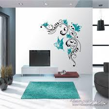 wandtattoo blumenranke 2 farbig wandaufkleber wohnzimmer