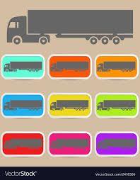 Icon Trucks With Refrigerator Royalty Free Vector Image