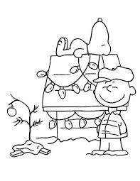 Charlie Brown Christmas Coloring Pages Tree