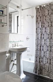 new york tile chair rail bathroom traditional with apartment