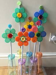 Art Crafts Recycle Bottle Cap Flower
