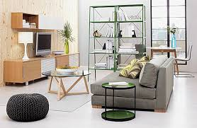 green metal modern steel shelving design with wooden wall and