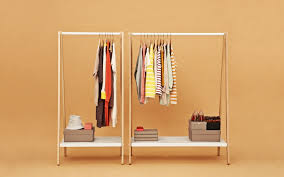 toj clothes rack stylish wardrobe furniture in grey steel and