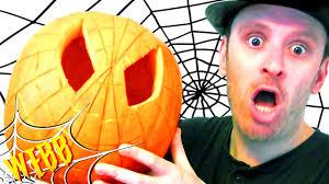 Superhero Pumpkin Carving Ideas by Carving A Spider Man Pumpkin Halloween Customizing Special Youtube