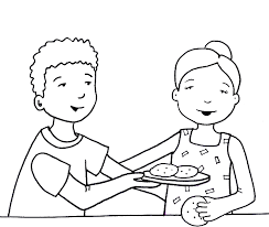 Children Sharing Coloring Pages